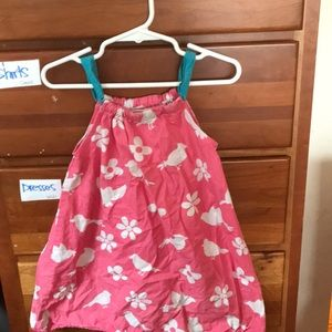 4T Harley pink and white sundress